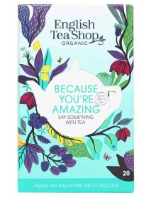 English Tea Shop - Ceai BIO - Because You're Amazing - mix de 5 sortimente de ceai  37g - plicuri / produs in Sri Lanka