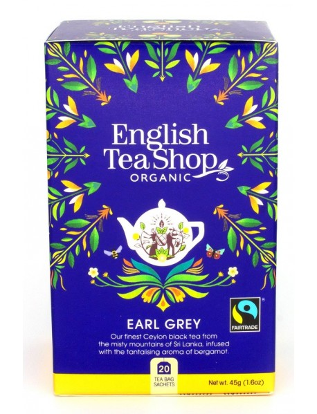 English Tea Shop - Ceai BIO - Earl Grey  - 45g - plicuri / produs in Sri Lanka