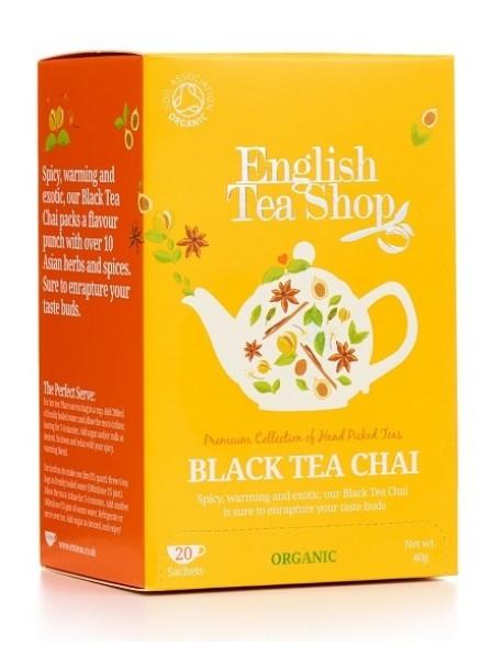 English Tea Shop - Ceai BIO - Black Tea Chai - 40g - plicuri / produs in Sri Lanka