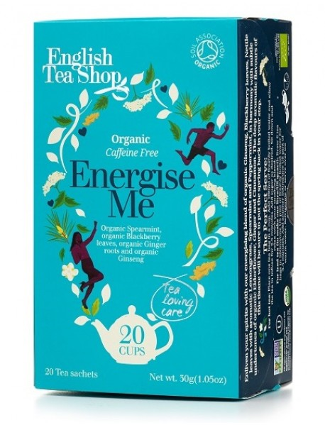 English Tea Shop - Ceai BIO - ayurvedic/wellness - Energize Me - 30g - plicuri / produs in Sri Lanka