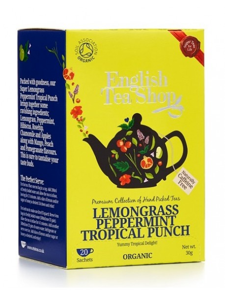English Tea Shop - Ceai BIO Lemongrass Peppemint Tropical Punch - 30g / produs in Sri Lanka