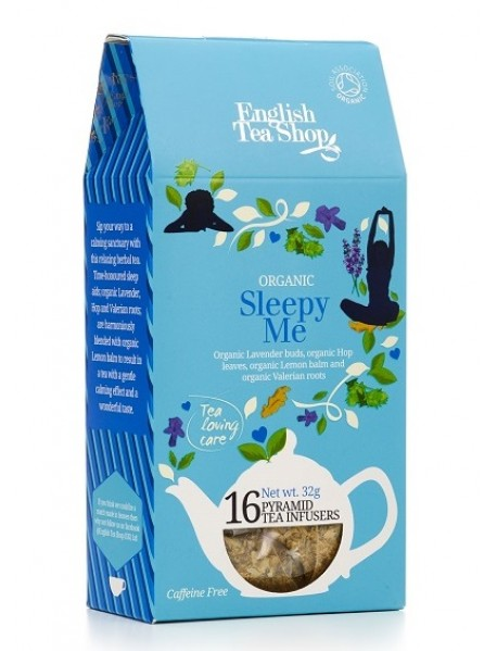 English Tea Shop - Ceai BIO - ayurvedic/wellness - Sleepy Me - 32g - piramide / produs in Sri Lanka