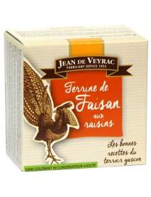Jean de Veyrac - Terina de fazan cu stafide de Corinthe - 65g / produs in Franta