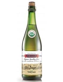VAL DE FRANCE - Suc de MERE organic (BIO), carbonatat, cu aroma de RODII - 0,75l / produs in Franta