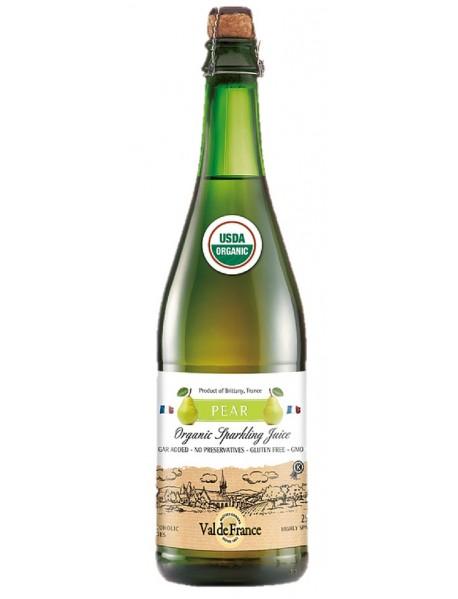 VAL DE FRANCE - Suc de MERE organic (BIO), carbonatat, cu aroma de PERE - 0,75l / produs in Franta