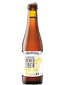 VAL DE FRANCE - L'AUTHENTIQUE FRENCH CIDER - Cidru cu lamaie-ghimbir 4.5% alc. - 0.33l / produs in Franta