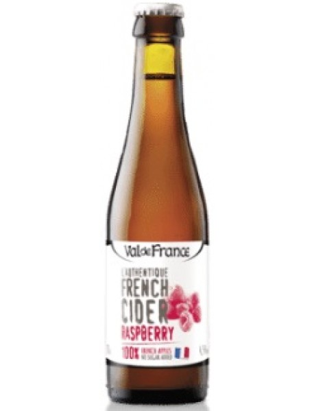 VAL DE FRANCE - L'AUTHENTIQUE FRENCH CIDER - Cidru cu zmeura 4.5% alc. - 0.33l / produs in Franta