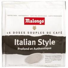 MALONGO - Cafea Pads Italian Style - 112g - 16 doze (pastile, capsule) compatibile Senseo Philips / produs in Franta