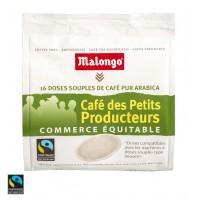 MALONGO - Cafea Pads Des Petits Producteurs - 112g - 16 doze (pastile, capsule) compatibile Senseo Philips / produs in Franta