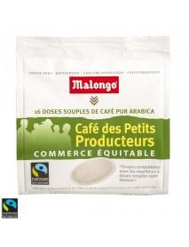 MALONGO - Cafea Pads Des Petits Producteurs - 112g - 16 doze (pastile, capsule) compatibile espresoare Senseo Philips / produs in Franta