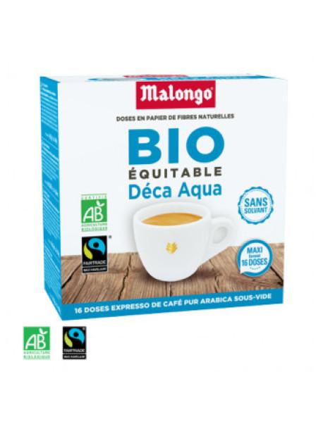MALONGO - Cafea pastile BIO Deca-Aqua - decafeinizata - pentru aparatele Oh Malongo si Rombouts - 16 pastile  / produs in Franta
