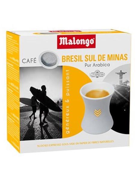 MALONGO - Cafea pastile Bresil - pentru aparatele Oh Malongo si Rombouts - 20 pastile  / produs in Franta