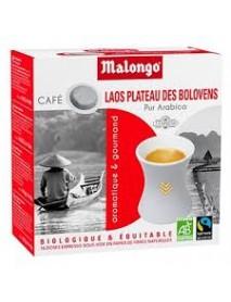 MALONGO - Cafea pastile BIO Laos - pentru aparatele Oh Malongo si Rombouts - 20 pastile  / produs in Franta