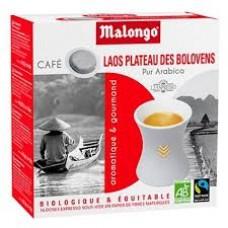 MALONGO - Cafea pastile BIO Laos - pentru aparatele Oh Malongo si Rombouts - 16 pastile  / produs in Franta