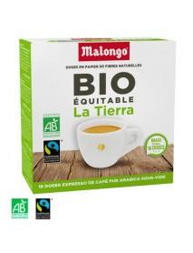 MALONGO - Cafea pastile BIO La Tierra - pentru aparatele Oh Malongo si Rombouts - 16 pastile  / produs in Franta