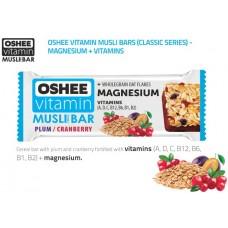 OSHEE - Baton Musli cu prune, merisoare si ciocolata - 40g