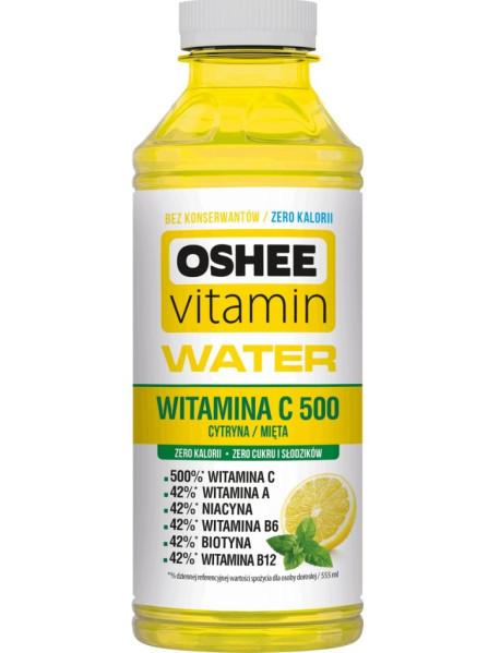 OSHEE - apa cu vitamine si minerale - C500 , cu aroma de lamaie si menta - 0.555l