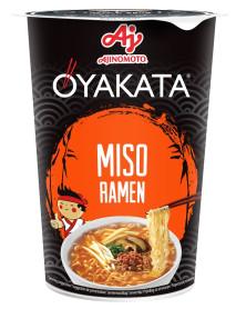OYAKATA - Supa instant cu taietei si aroma de pasta de soia Miso. Greutate neta: 66 g  - produs de Ajinomoto