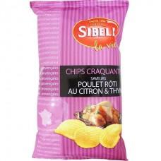 SIBELL - Chips cu aroma de pui rotisat, lamaie si cimbru - 120g