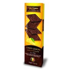 TRIANON - Foita crocanta de ciocolata neagra cu bucatele de zahar si gust de lamaie - 75g / produs in Olanda