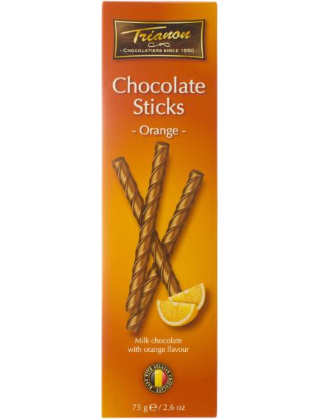 TRIANON - Sticks ciocolata lapte cu portocale - 75g / produs in Olanda