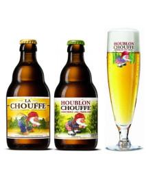 Oferta Speciala - 2 beri de la braseria DÁchouffe: La Chouffe, Houblon Chouffe + 1 pahar degustare Houblon Chouffe 250ml / bere speciala Belgia