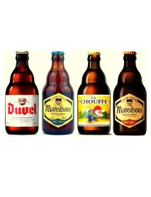 Oferta Speciala - 4 beri belgiene de la braseriile producatorului Duvel Moortgat: Duvel, Maredsous Triple, LaChouffe, Maredsous Bruin - la pret special / bere speciala Belgia