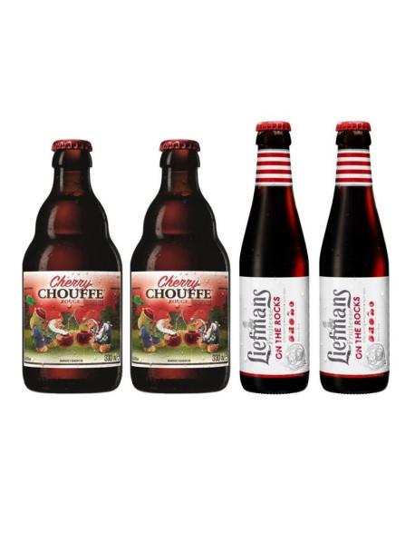 Oferta Speciala - 4 beri: 2 Cherry Chouffe + 2 Liefmans Fruitesse - la pret special - beri artizanala cu fructe / bere Belgia