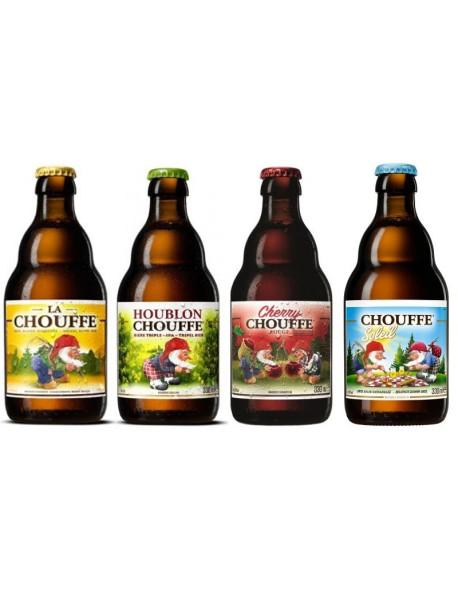Oferta Speciala - 4 beri de la braseria DÁchouffe: La Chouffe, Houblon Chouffe, Cherry Chouffe, Chouffe Soleil - la pret special  / bere speciala Belgia