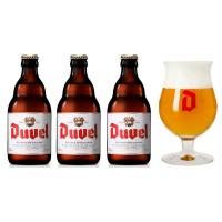 Oferta Speciala - 3 beri DUVEL 0.33l 8,5% alc + 1 pahar / bere speciala Belgia