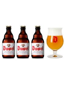 Oferta Speciala - 3 beri DUVEL 0.33l 8,5% alc + 1 pahar degustare 200ml + pret special/ bere speciala Belgia