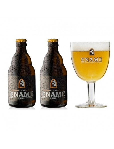 Oferta Speciala - 2 beri ENAME BLOND +1 pahar  / bere de abatie Belgia