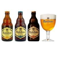 Oferta Speciala - 3 beri Maredsous: BLOND, BRUIN, TRIPLE 0.33l + 1 pahar / oferta speciala