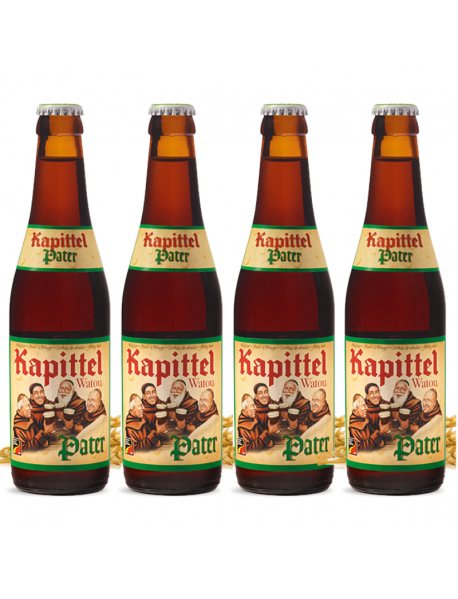 Oferta Speciala - 4 beri KAPITTEL PATER - Bere aramie, 6% alc. - 0.33l - la pret special / bere de abatie Belgia