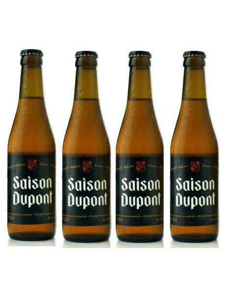 Oferta Speciala - 4 beri SAISON DUPONT - Bere blonda artizanala, 6.5% alc. - 0.33l - la pret special / bere speciala Belgia