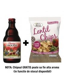 Oferta Speciala - 1 bere CHERRY CHOUFFE  - Bere rosie, cu visine, 8% alc. - 0.33l + 1 chips Eat Real linte cu rosii si busuioc 40g - gratis