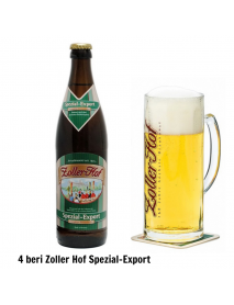 Oferta Speciala - 4 beri artizanale germane ZOLLER-HOF Spezial Export si 1 halba de bere / bere speciala Germania
