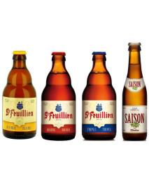 Oferta Speciala - 4 beri de la braseria ST-FEUILLIEN:  - BLOND, BRUNE, TRIPLE, SAISON la pret special / bere de abatie Belgia