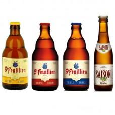 Oferta Speciala - 4 beri de la braseria ST-FEUILLIEN:  - BLOND, BRUNE, TRIPLE, SAISON la pret de sarbatoare / bere de abatie Belgia