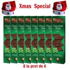xmas - Oferta Speciala - 8 cutii foite de ciocolata neagra belgiana Trianon  / la pret de sarbatoare