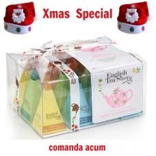 xmas - Oferta Speciala - English Tea Shop - Ceai alb prisme - 24g - la pret de sarbatoare / produs in Sri Lanka