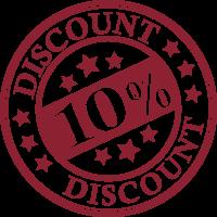 promo - discount de 10% la cos de cumparaturi peste 100lei *Promotie valabila doar pentru clientii care isi creeaza cont. CLICK aici pentru mai multe detalii!