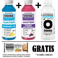 promo OSHEE : (H2O vitamine + H2O magneziu + H2O cofeina)  + Oshee musli bar GRATIS