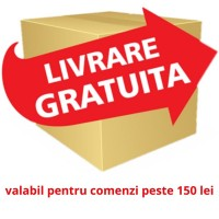- Livrare gratuita pentru comenzi mai mari de 150lei